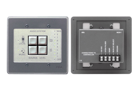 RDL RCX-1S Room Control for RCX-5C Room Combiner - Stainless
