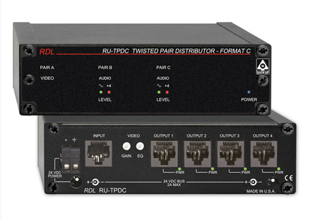 RDL RU-TPDC Four Output Distributor - 1x4 - Twisted Pair Format-C
