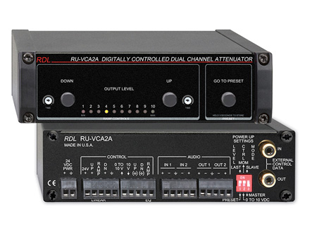 RDL RU-VCA2A Digitally Controlled 2 Channel Audio Attenuator