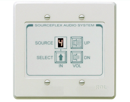 RDL SAS-RC8N Room Control Station for SourceFlex Distributed Audio System - Ultrastyle neutral