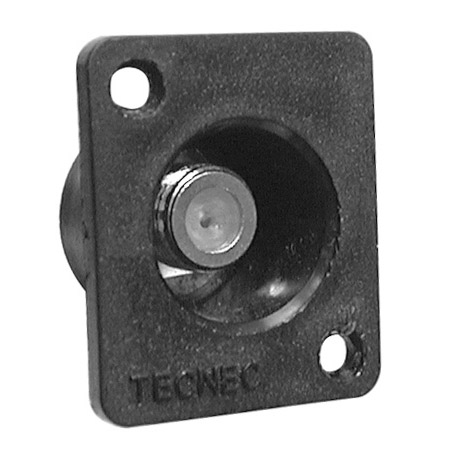 Tecnec Recessed F Female Chassis Mount Solder point  Connector