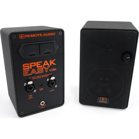 Remote Audio SPKEZV3B 12 Watt Battery-Powered Speaker