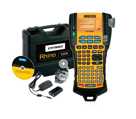Dymo Rhino 5200 Professional Label Printer Hard Case Kit