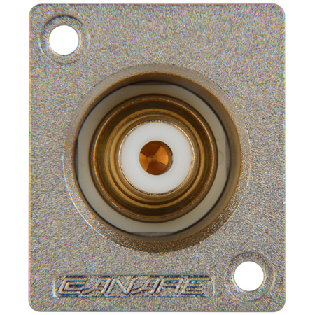 Canare RJ-BCJRU Recessed RCA to BNC Jack Chassis Mount w/Green Insert