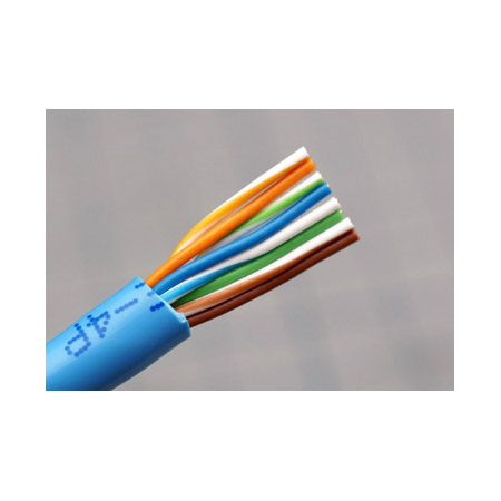 Canare RJC5E-4P Cat5E Standard UTP Cable - 1000 Ft. Light Blue