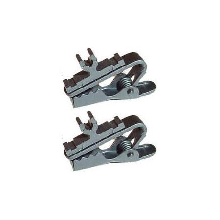 Shure RK354SB 2 Single Bar Tie Clips - Black
