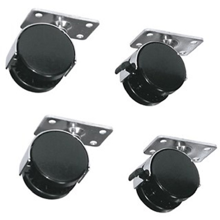 Middle Atlantic RKW 4-Wheel Kit (2 Locking) For RK/BRK Series Racks