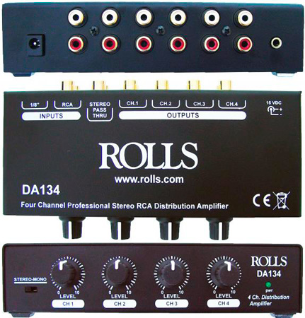 Rolls DA134 4 Channel RCA Distribution Amp