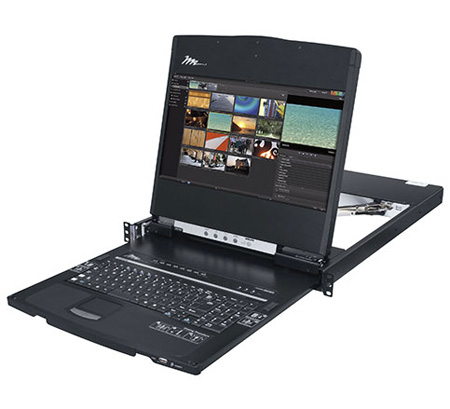Middle Atlantic RM-KB-LCD17KVMHD High Definition Rackmount Console w/ KVM 1080p Widescreen Display