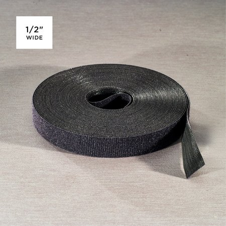 Rip-Tie Q-75-1RL-BK WrapStrap Plus 1/2 Inch x 75 Ft.