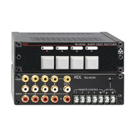 RDL RU-AVX4 Audio/Video Switcher - 4x1 - RCA