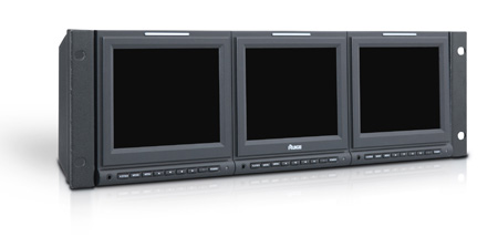 Ruige TLS560HD-3 - 3RU 3x5.6in LCD Monitor CV - Y/Pr/Pb - HD/SDI - Speaker