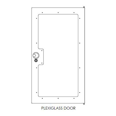 Chief NG1D44P G1 Enclosed Rack Door - 44RU - Plexi