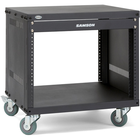 Samson SRK12 12-Space Universal Equipment Rack with Casters