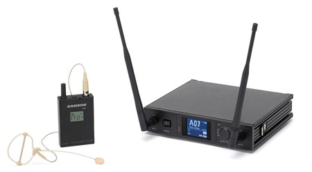 Samson SWS7SBSE10-C Synth 7 UHF Wireless Earset System - C Band 638-667 MHz