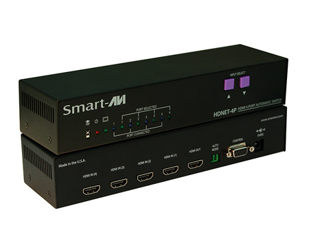 Smart AVI HDN-4PS 4-Port Automatic 4x1 HDMI Switcher with RS232