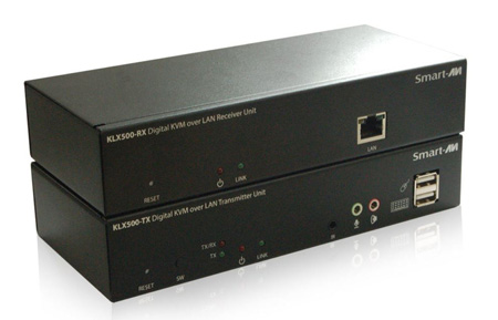 Smart-AVI KLX-500-S HD DVI-D/VGA Audio KVM Extender via LAN