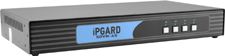 Smart-AVI SDVN-4S Secure 4-Port Single-Head DVI-I KVM Switch with Keyboard /Mouse / USB  and Audio