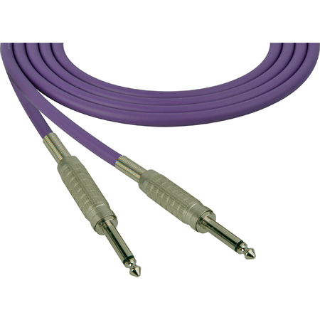 Canare Star-Quad Cable 1/4-Inch TS Male to 1/4-Inch TS Male 100 Foot - Purple