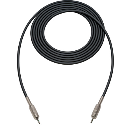 Canare Star-Quad Cable 3.5mm TRS Stereo Male to Male 15 Foot - Black