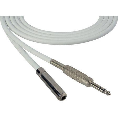 Canare Star-Quad Cable 1/4-Inch TRS Male to 1/4-TRS Female 15 Foot - White
