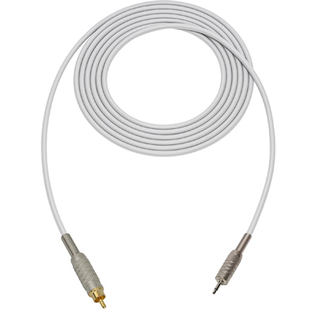 Canare Star-Quad Audio Cable 3.5mm TS Male to RCA Male 25 Foot - White