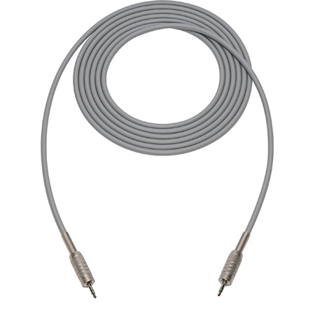 Canare Star-Quad Cable 3.5mm TRS Stereo Male to Male 3 Foot - Gray