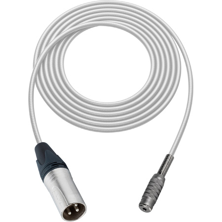Canare Star-Quad Cable XLR Male to 3.5mm TRS Female 50 Foot - White