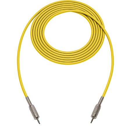 Canare Star-Quad Cable 3.5mm TRS Stereo Male to Male 6 Foot - Yellow