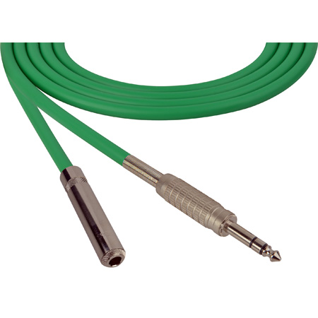 Canare Star-Quad Cable 1/4-Inch TRS Male to 1/4-TRS Female 6 Foot - Green