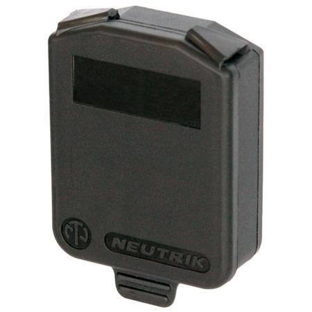 Neutrik SCDX D-size Hinged Cover (Black)