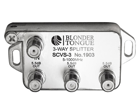 Blonder Tongue SCVS-3 3-way Splitter