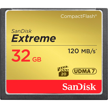 Sandisk Extreme SDCFXS-032G-A46 -  32 GB CompactFlash (CF) Card