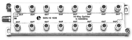 Blonder Tongue SDS-16 Splitter 16 Way Solder Back 5-1000 MHz