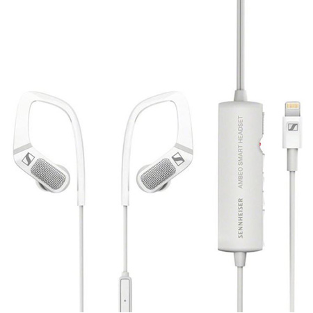 Sennheiser 506912 In-Ear Headphones with Three Built-In Microphones Inline Remote and Lightning Connector - White