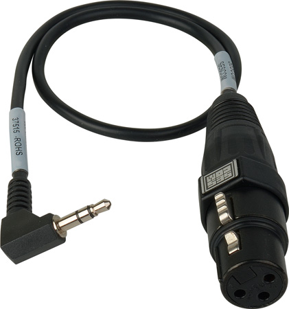 SESCOM SES-CAMCORD-MIC XLR Mic to DSLR Audio Input Adapter Cable - 18 Inch