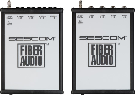 Sescom SES-FA4BAL-V2 4-Channel Balanced XLR Audio Over a Single ST Fiber Extender
