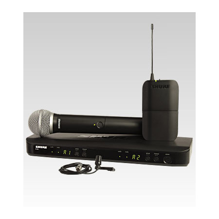 Shure BLX1288/CVL Dual Channel Combo Wireless System - M15 662-686 MHz