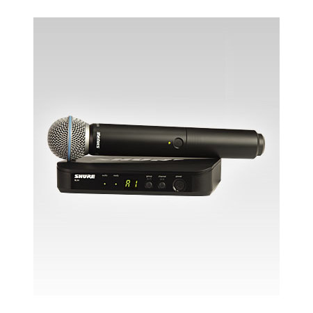 Shure BLX24/B58-M15 BETA58 Handheld Wireless Mic System - M15 662-686 MHz