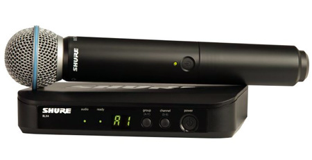 Shure BLX24/B58-J10 BETA58 Handheld Wireless Mic System - J10 584-608 MHz