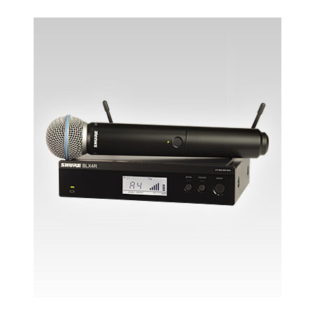 Shure BLX24R/B58 BETA58 Handheld Wireless Microphone System - K12 614-638 MHz
