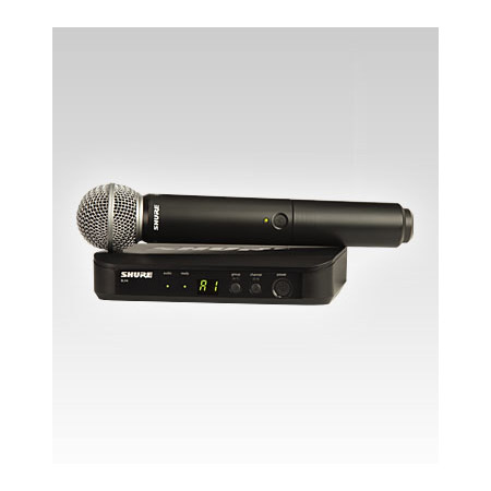 Shure BLX24/SM58-H8 SM58 Handheld Wireless Microphone System - H8 518-542 MHz