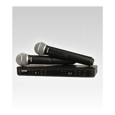 Shure BLX288/PG58-K12 Dual Channel Handheld Wireless System - K12 614-638 MHz