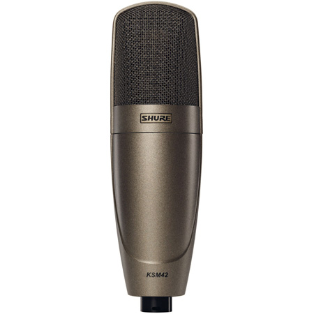 Shure KSM42/SG Large Dual-Diaphragm - Side-Address Condenser Vocal Microphone (Sable Gray)