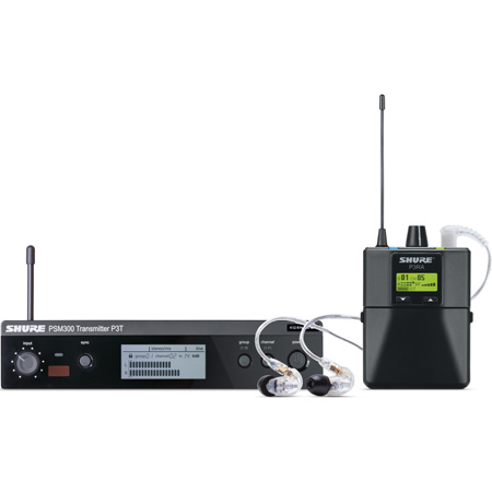 Shure PSM 300 Stereo Personal Monitor System with SE215-CL Earphones - J13 Band 566.17 - 589.85 MHz
