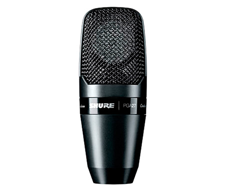 Shure PGA27-LC Large-Diaphragm Side-Address Cardioid Condenser Mic w/ Shock-Mount & Case - No Cable