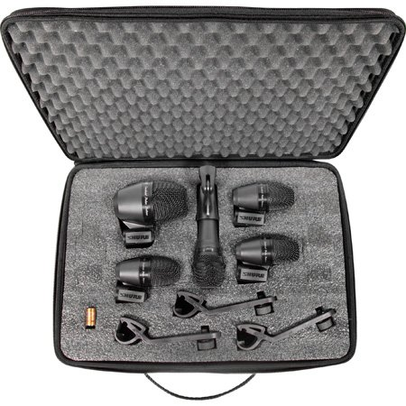 Shure PG Alta PGADRUMKIT5 5-Piece Drum Mic Kit Including Stand Adapter/Drum Mounts/Cables/Case