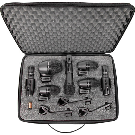 Shure PG Alta PGADRUMKIT7 7-Piece Drum Mic Kit Including  Stand Adapters/Drum Mounts/Cables/Case
