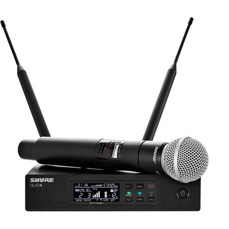 Shure QLXD24/SM58-H50 Digital Wireless Mic System w/SM58 Handheld Mic 534-598MHz
