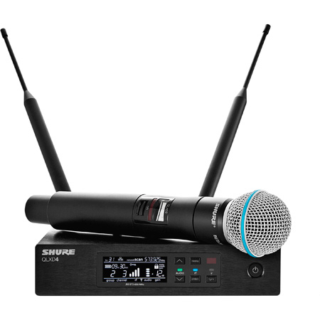 Shure QLXD24/B58-J50 Beta 58 Vocal System - (572 - 636 MHz)